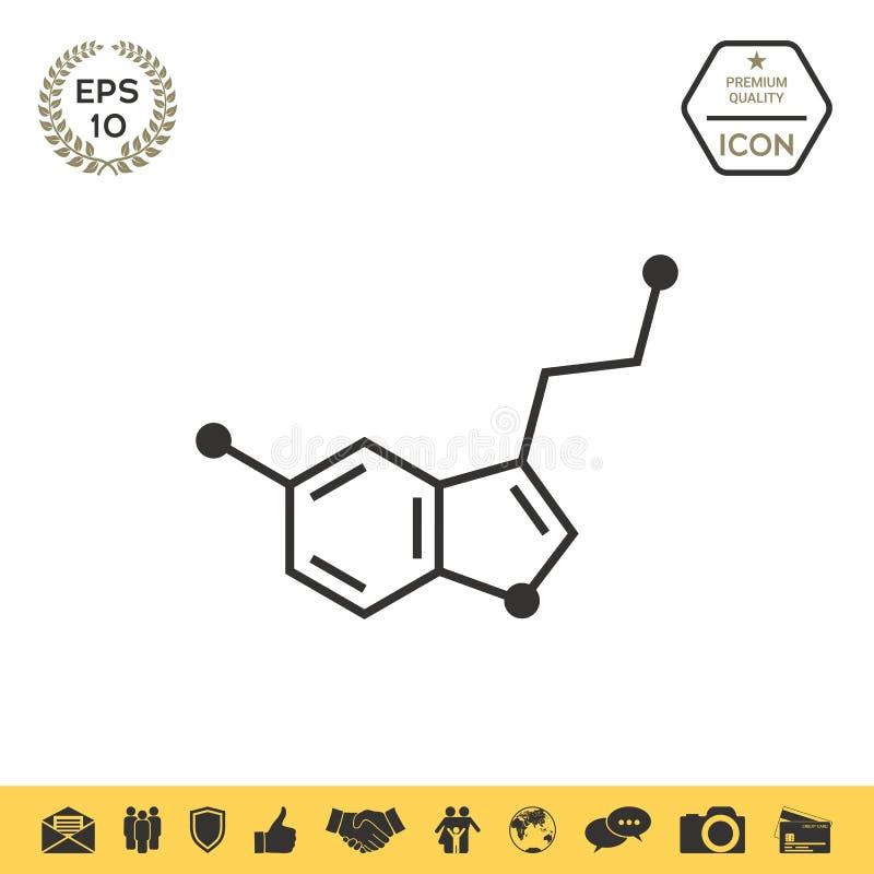 Chemicznej formuły ikona wąż ilustracji