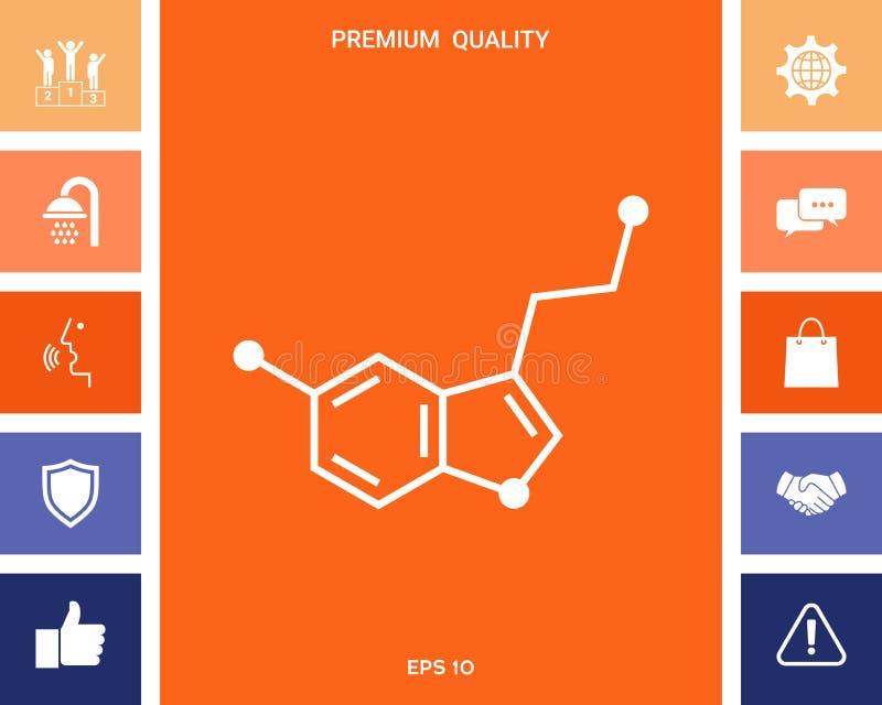 Chemicznej formuły ikona wąż ilustracja wektor