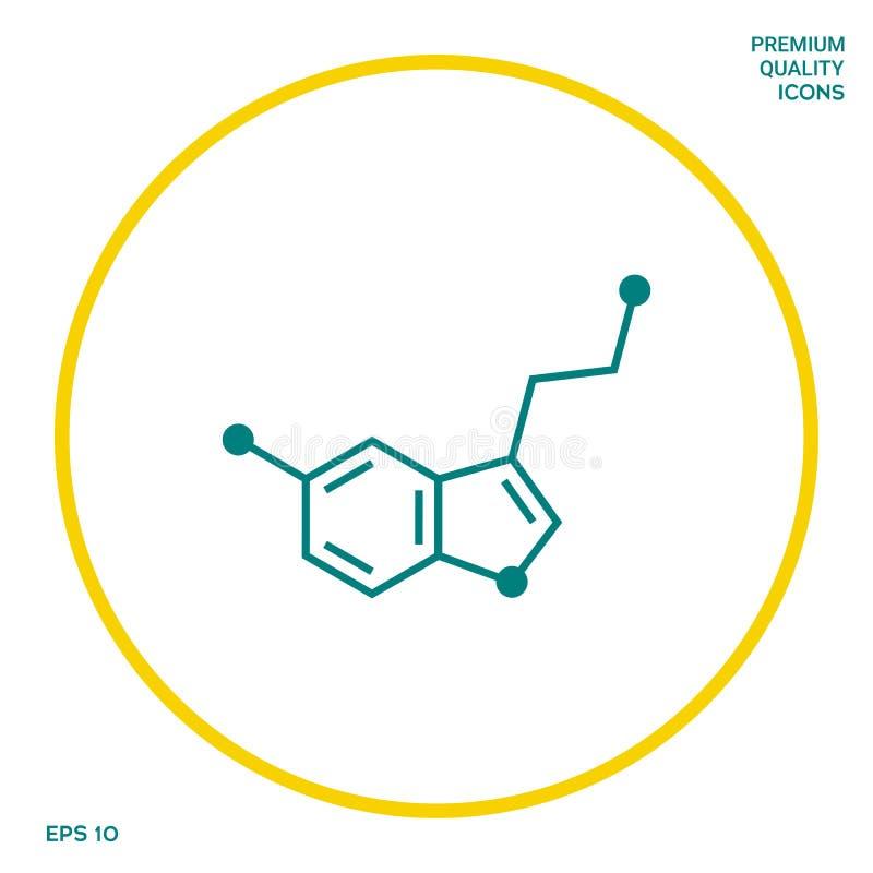 Chemicznej formuły ikona wąż Graficzni elementy dla twój projekta ilustracji