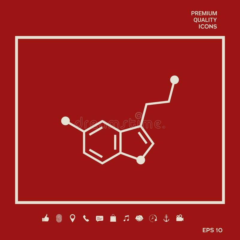Chemicznej formuły ikona wąż Graficzni elementy dla twój projekta ilustracja wektor