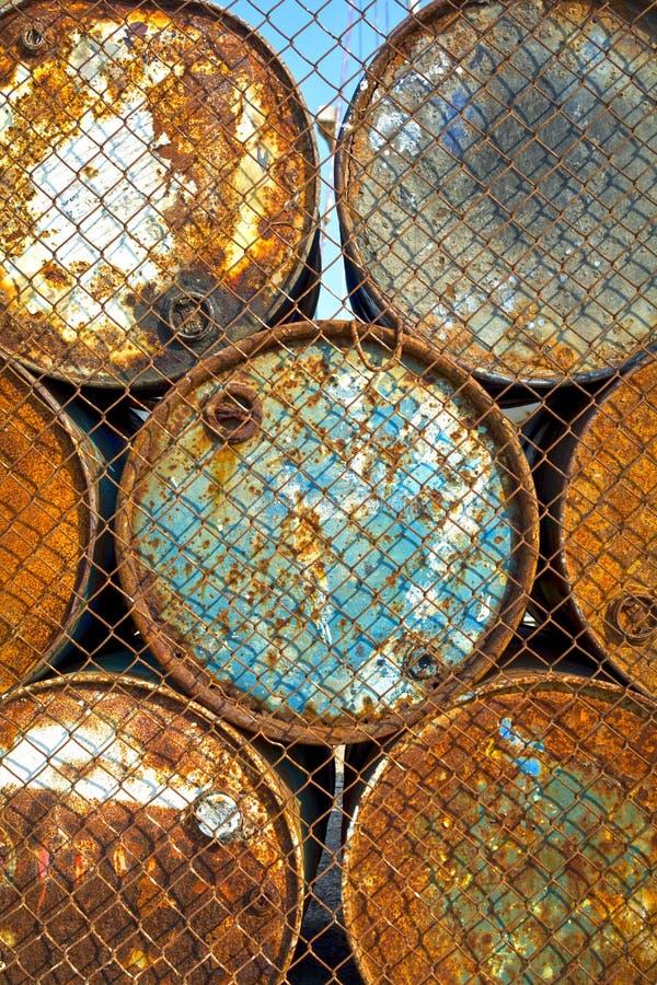 chemiczni zajezdni nafcianego magazynu zbiorniki obrazy stock
