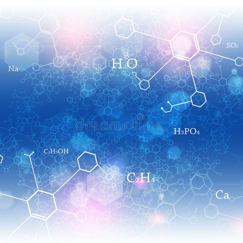 Chemiczny abstrakcjonistyczny tło royalty ilustracja