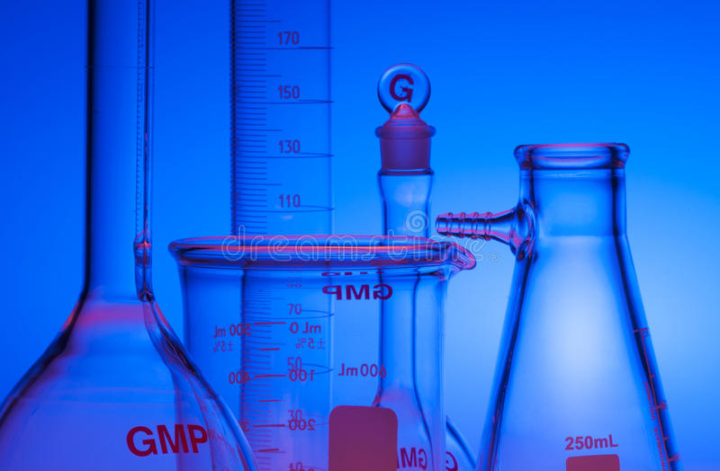 Chemiczny Glassware Fotografia Stock