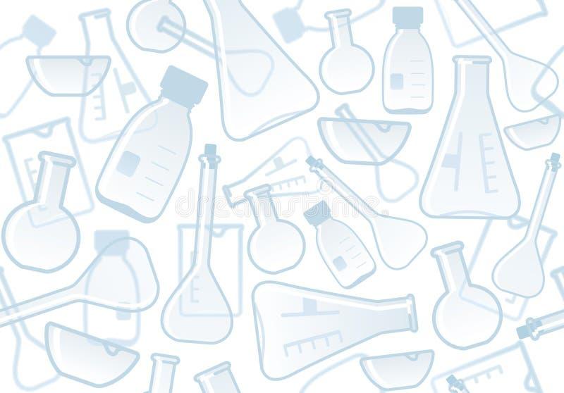 Chemiczny laborancki tło ilustracja wektor