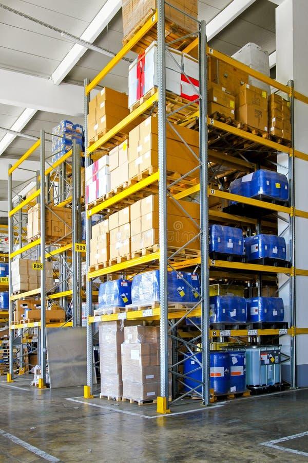 chemiczny materialny storehouse zdjęcie stock