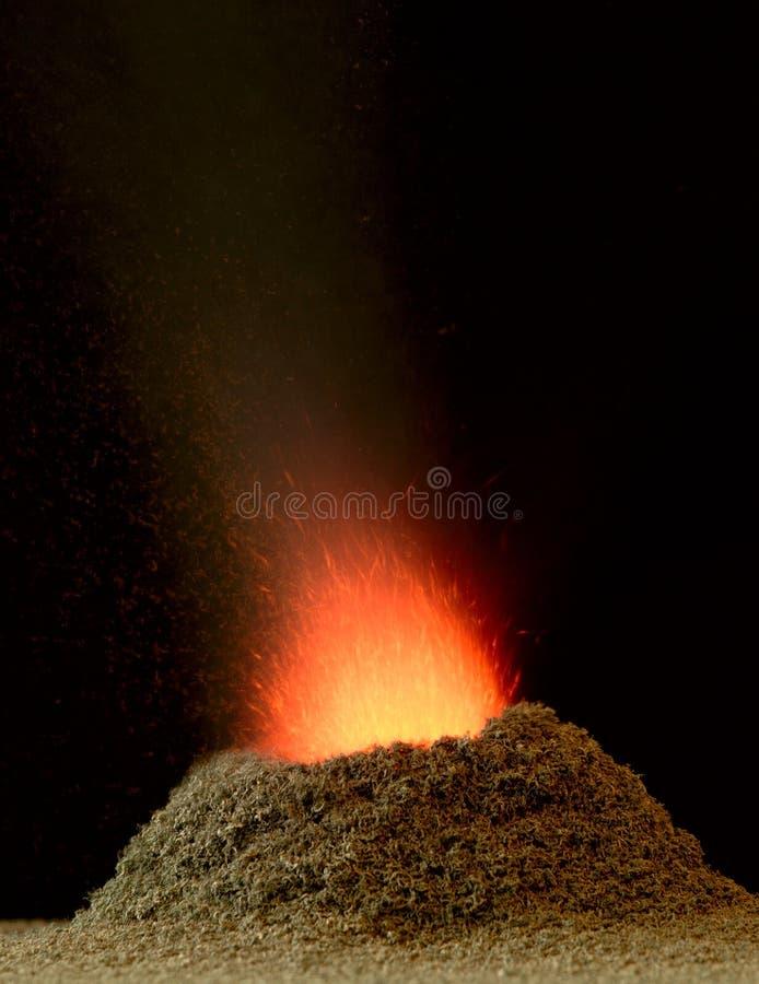 chemiczny wulkan obrazy stock