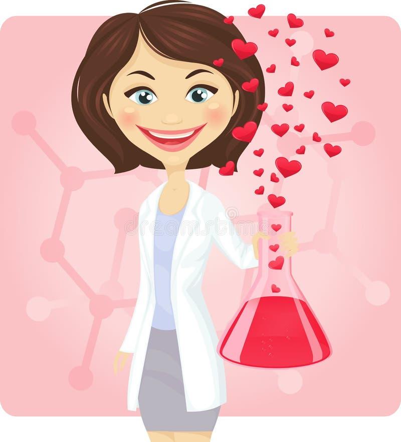 Chemie der Liebe lizenzfreie abbildung
