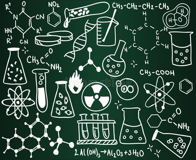 Chemie-Schulbehörde vektor abbildung