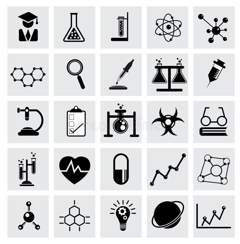 Chemie- und Wissenschaftsvektorikone stock abbildung