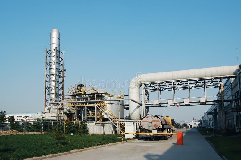 Chemiefabrik lizenzfreie stockfotos