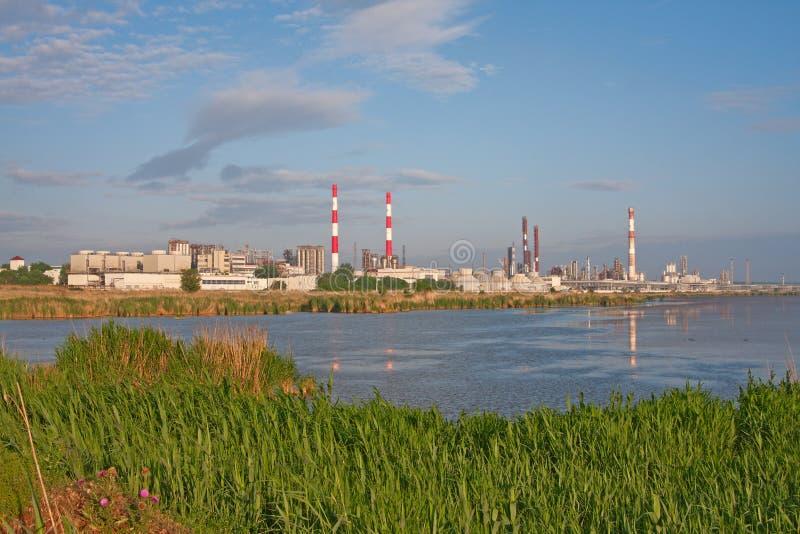 Chemiefabrik stockfoto