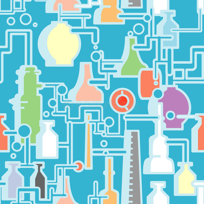 Chemiefabrik nahtlos vektor abbildung