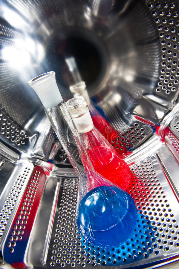Chemiegefäß auf termostat lizenzfreie stockbilder