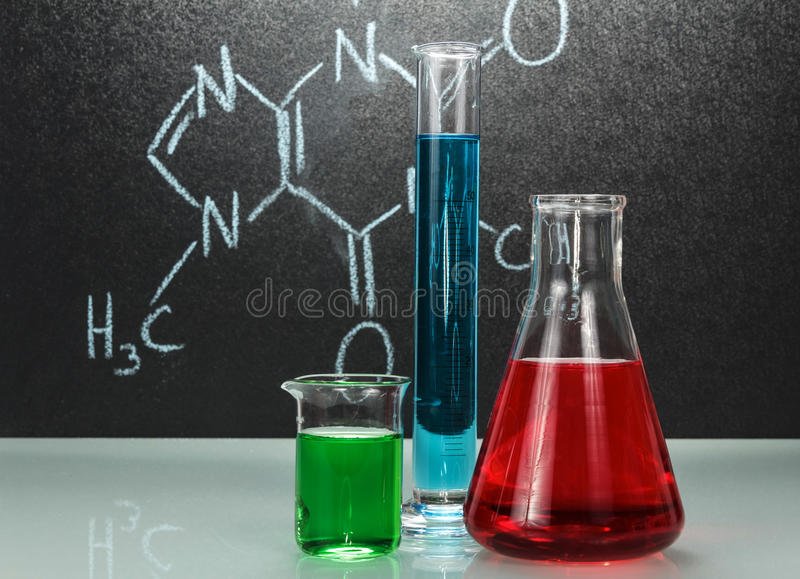 Chemielaboratorium stock afbeeldingen