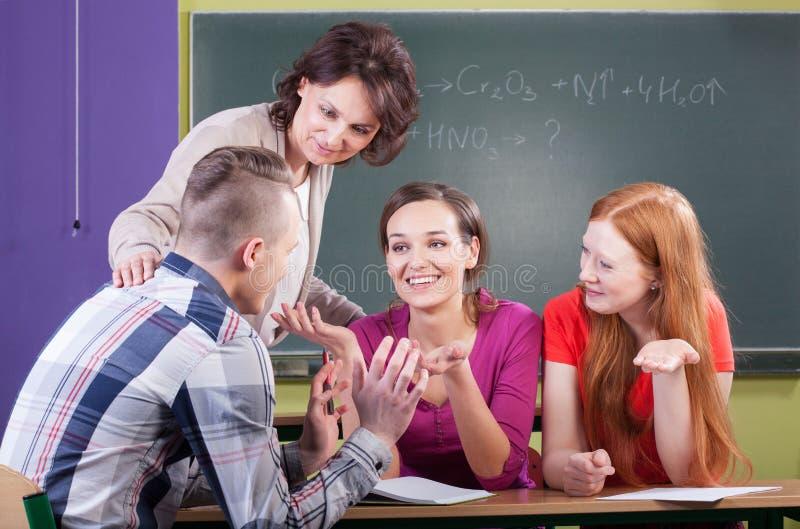 Chemielektion in der Schule stockfoto