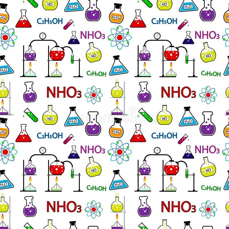 chemii bezszwowy deseniowy ilustracja wektor