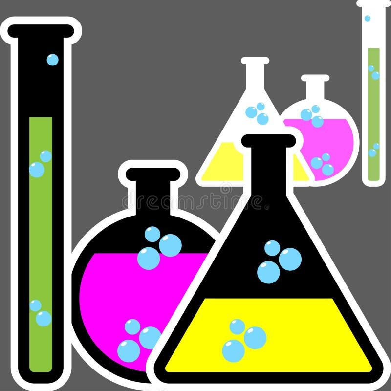 Chemii butelki ilustracja wektor