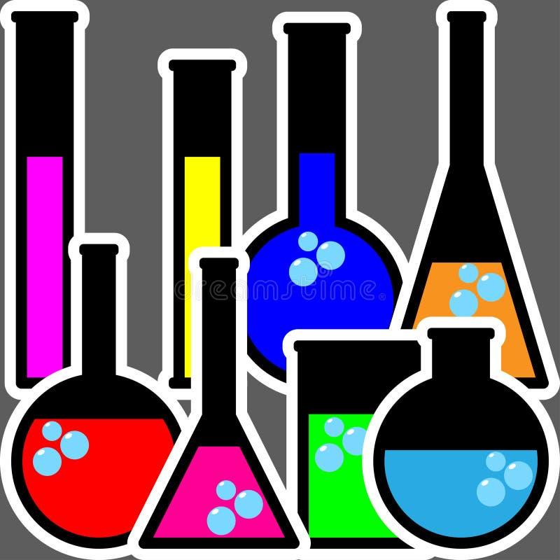 Chemii butelki royalty ilustracja
