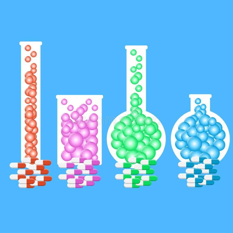 Chemii butelki ilustracji