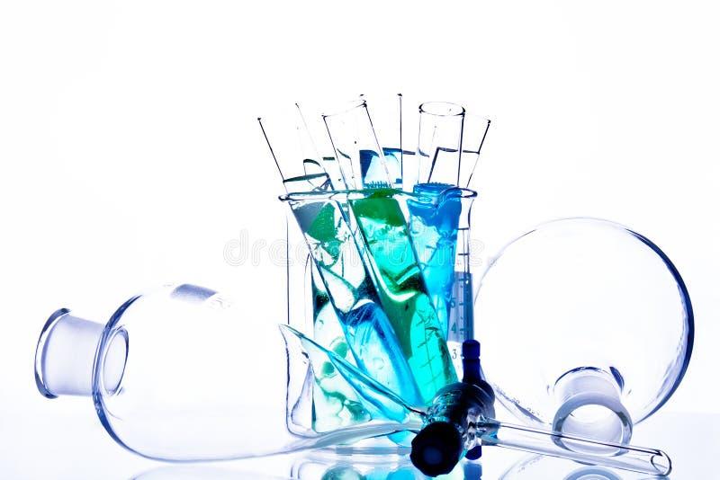 Chemii Glassware zdjęcia stock