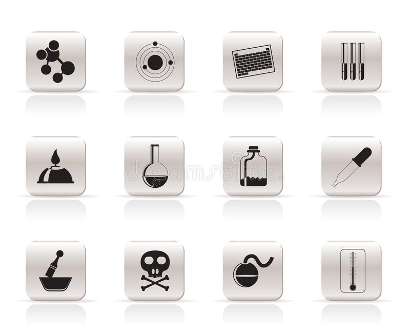 chemii ikon przemysł ilustracja wektor