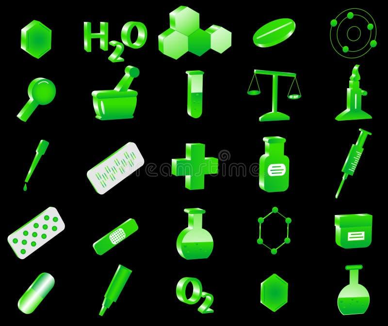 chemii ikony ilustracji