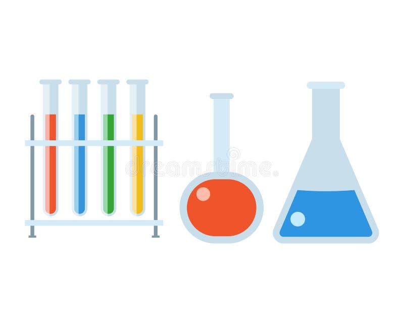 Chemii kolby Ustawiać ilustracji