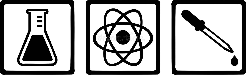 Chemii laboratorium chemik ilustracja wektor