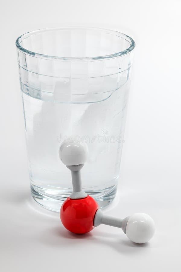 Chemii molekuła dla wody i szkła zdeterminował z elementem obraz royalty free
