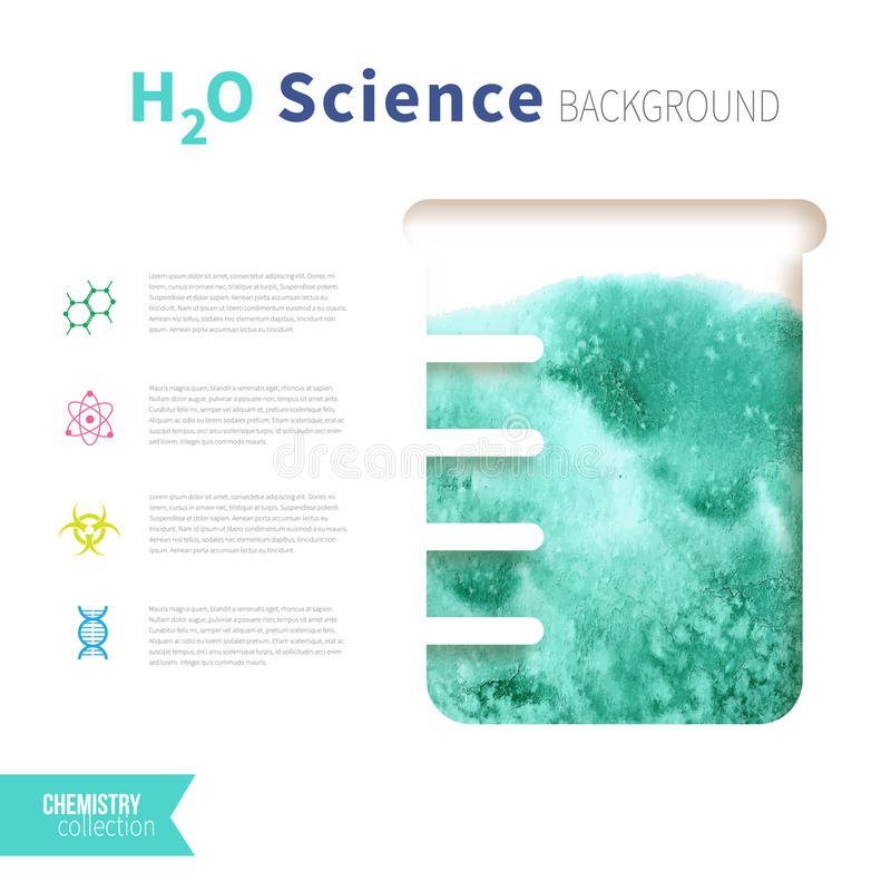 Chemii nauki pojęcie ilustracji