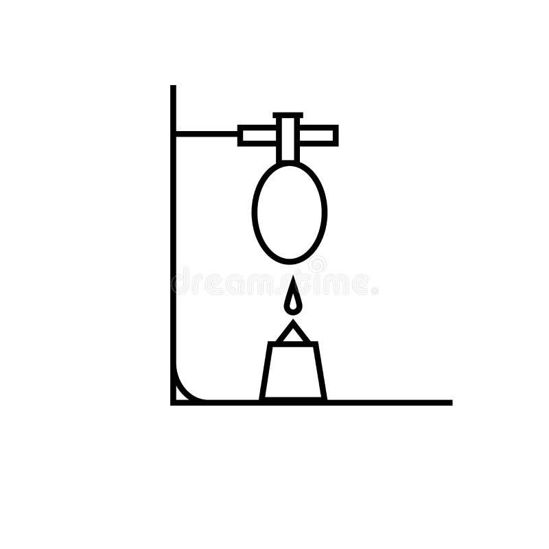 chemii próbnej tubki ogienia reakci ikona ilustracja wektor