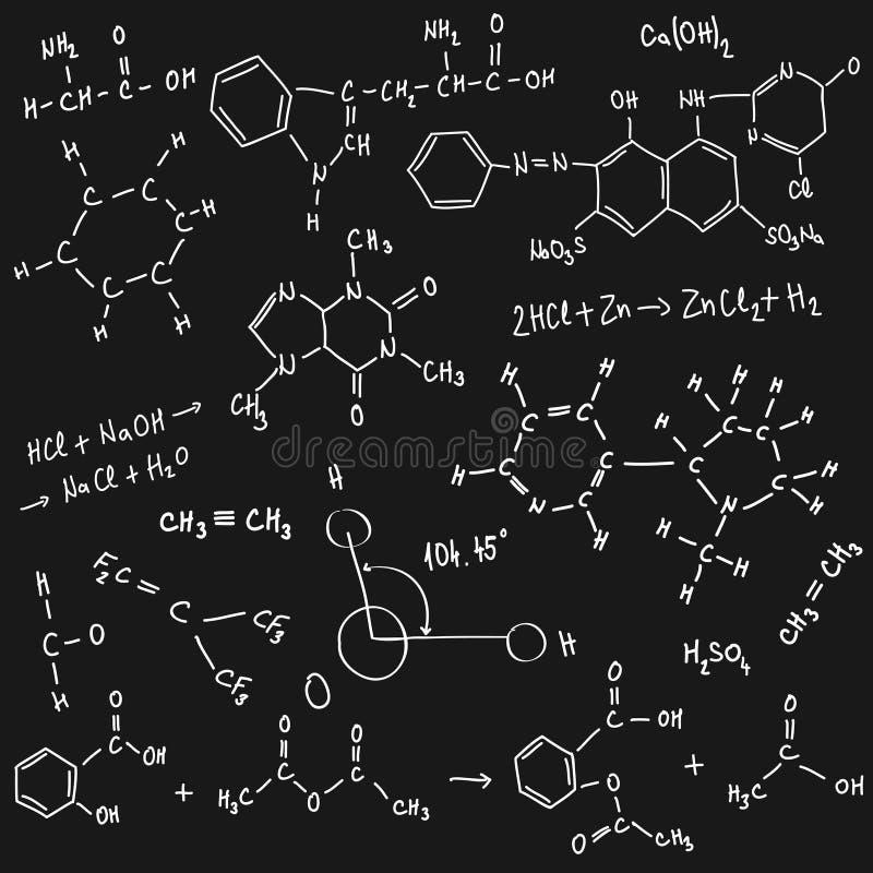 Chemii tło ilustracji