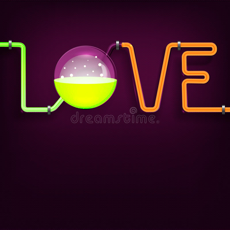 Chemii tubk miłości tło royalty ilustracja