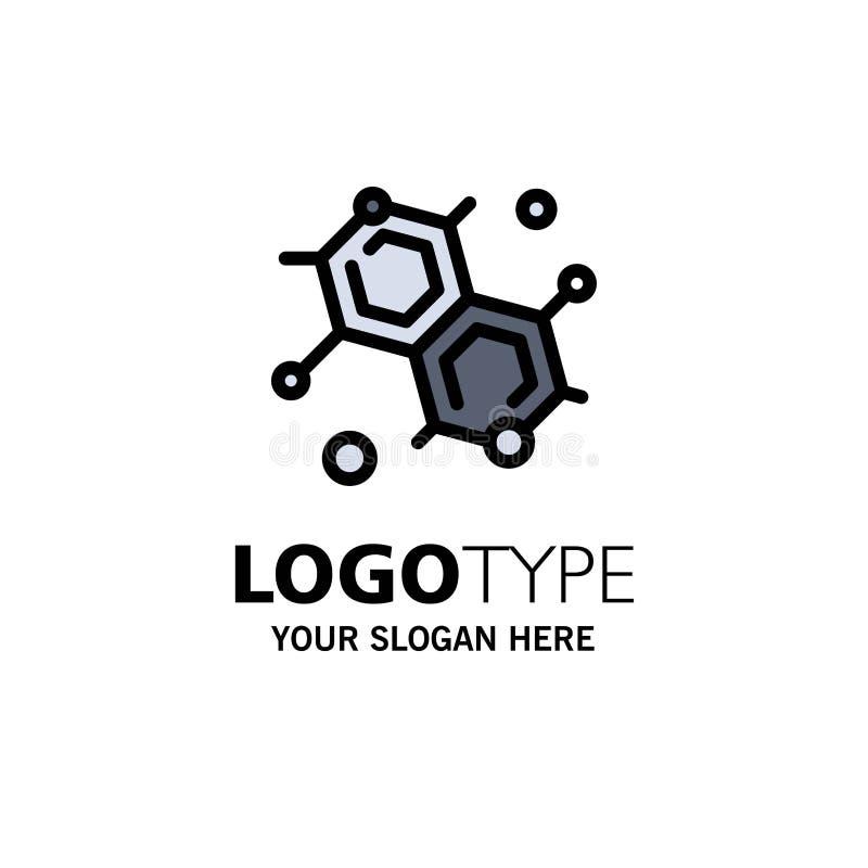Chemik, Cząsteczkowy, nauka logo Biznesowy szablon p?aski kolor ilustracji