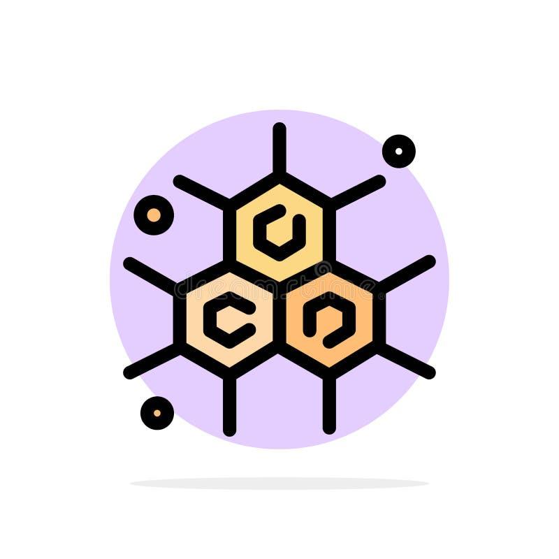 Chemik, Cząsteczkowy, nauka okręgu Abstrakcjonistycznego tła koloru Płaska ikona ilustracja wektor