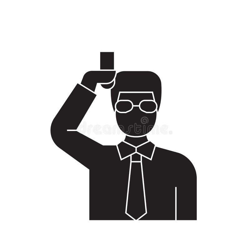 Chemika naukowa czerni pojęcia wektorowa ikona Chemika naukowa płaska ilustracja, znak ilustracja wektor