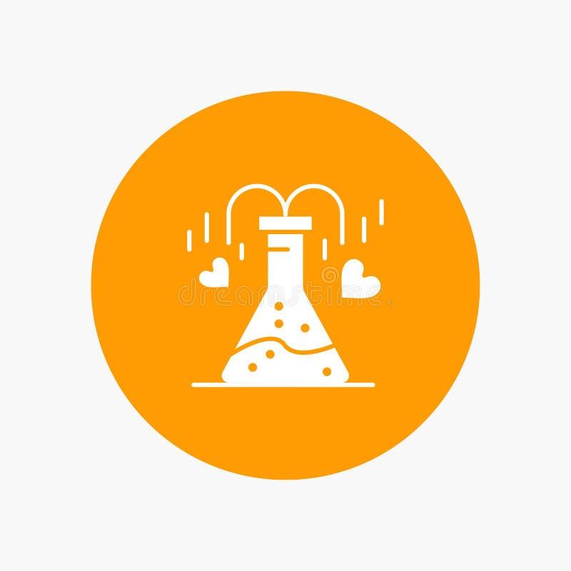 Chemikalie, Flasche, Herz, Liebe stock abbildung