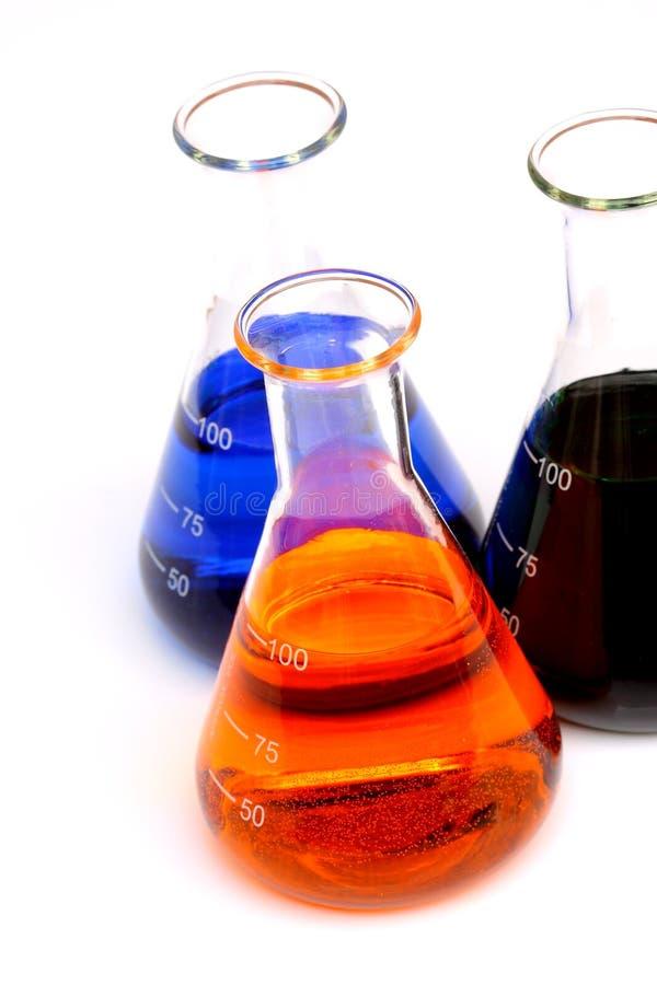 Chemikalien in der Glasflasche lizenzfreie stockfotos