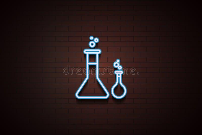 Chemikalienikone im Neon vektor abbildung