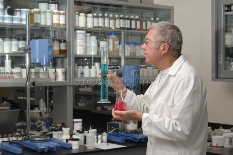 Chemiker im Labor lizenzfreie stockfotos