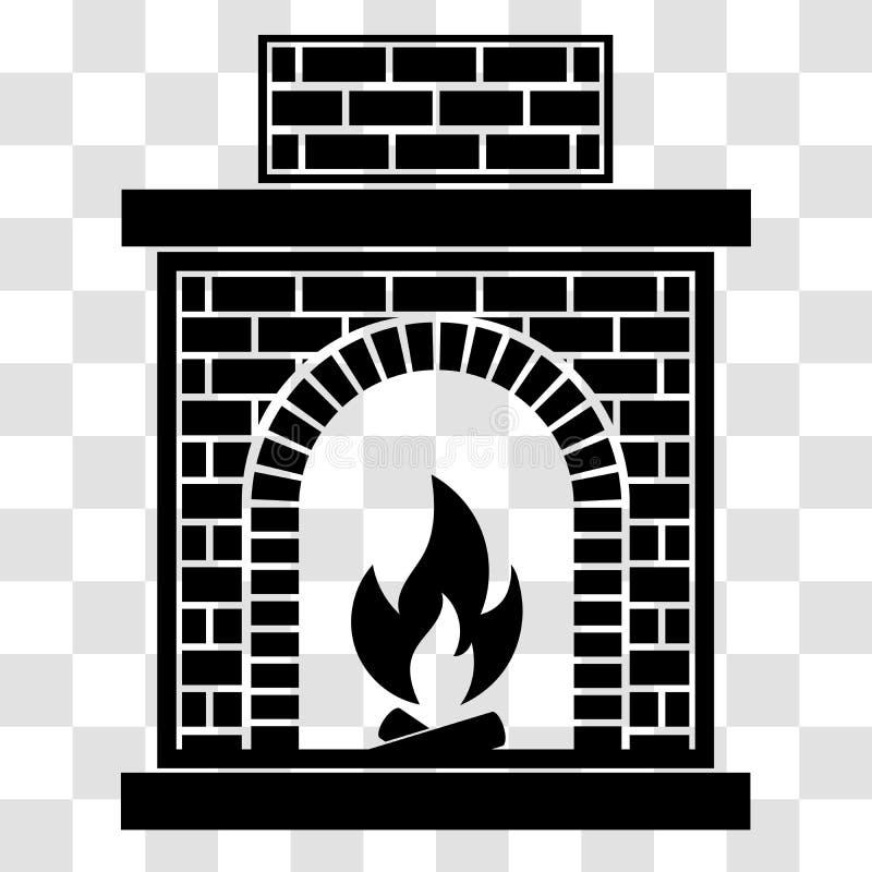 Cheminée classique de brique illustration stock