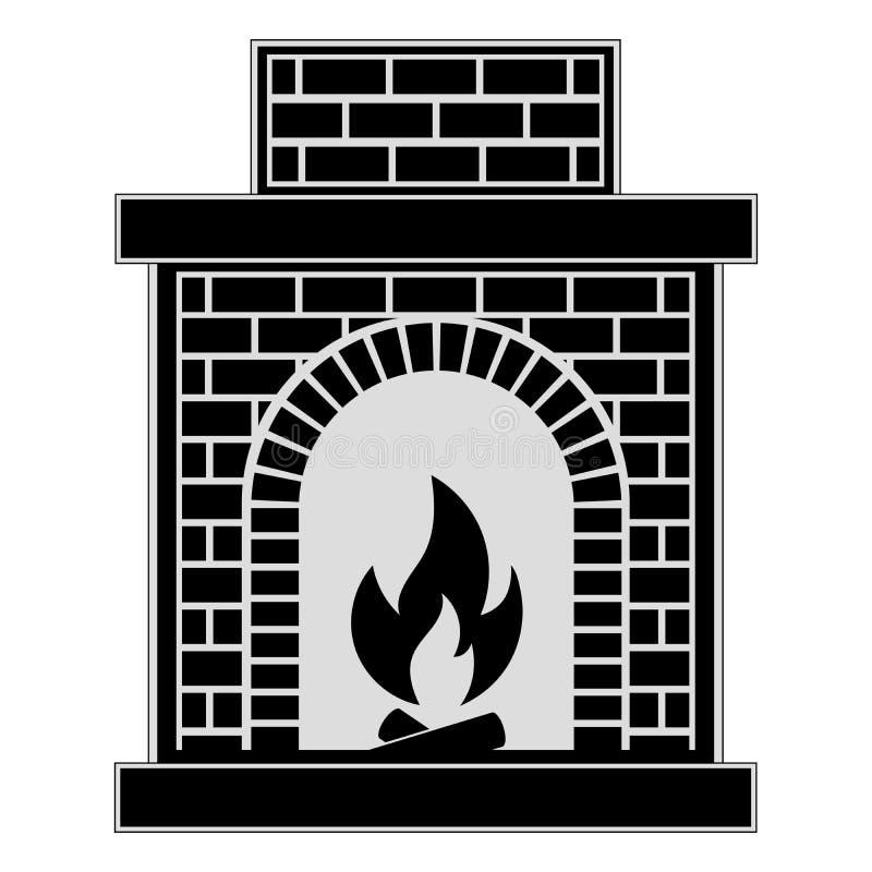 Cheminée classique de brique illustration libre de droits