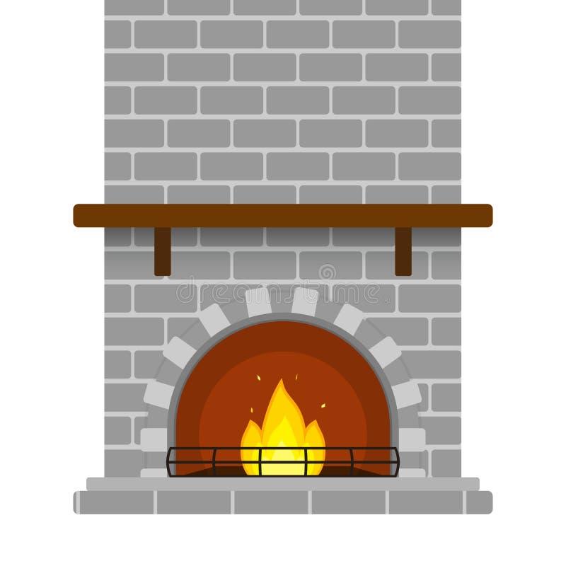 Cheminée de brique d'isolement illustration stock