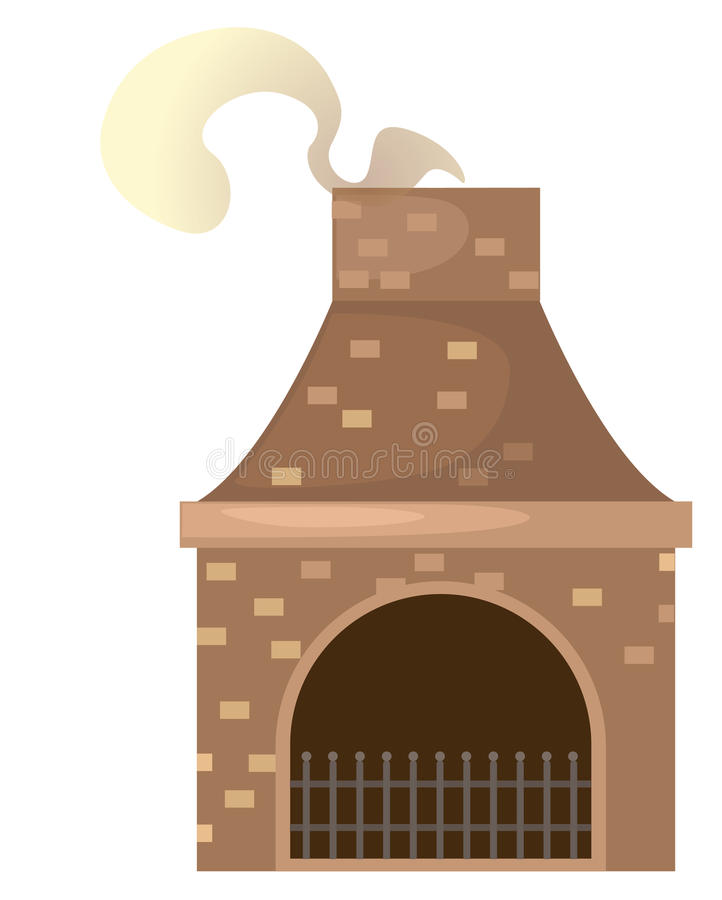 Cheminée de brique de Chambre illustration libre de droits