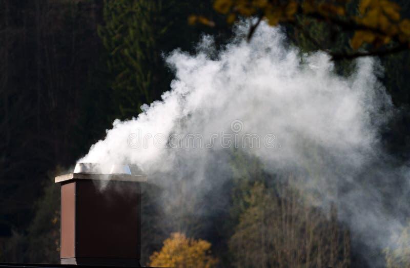 Cheminée de fumage d'une maison photos libres de droits