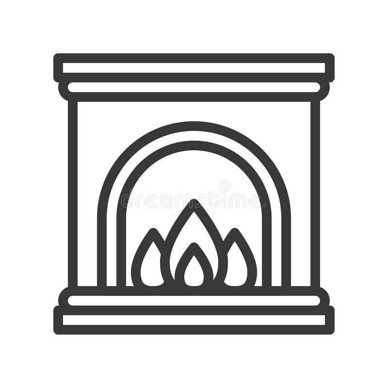 Cheminée, ensemble de thème de Joyeux Noël, course editable pi d'ensemble illustration de vecteur