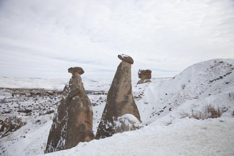 Cheminée féerique près d'Urgup dans Cappadocia, Turquie images libres de droits