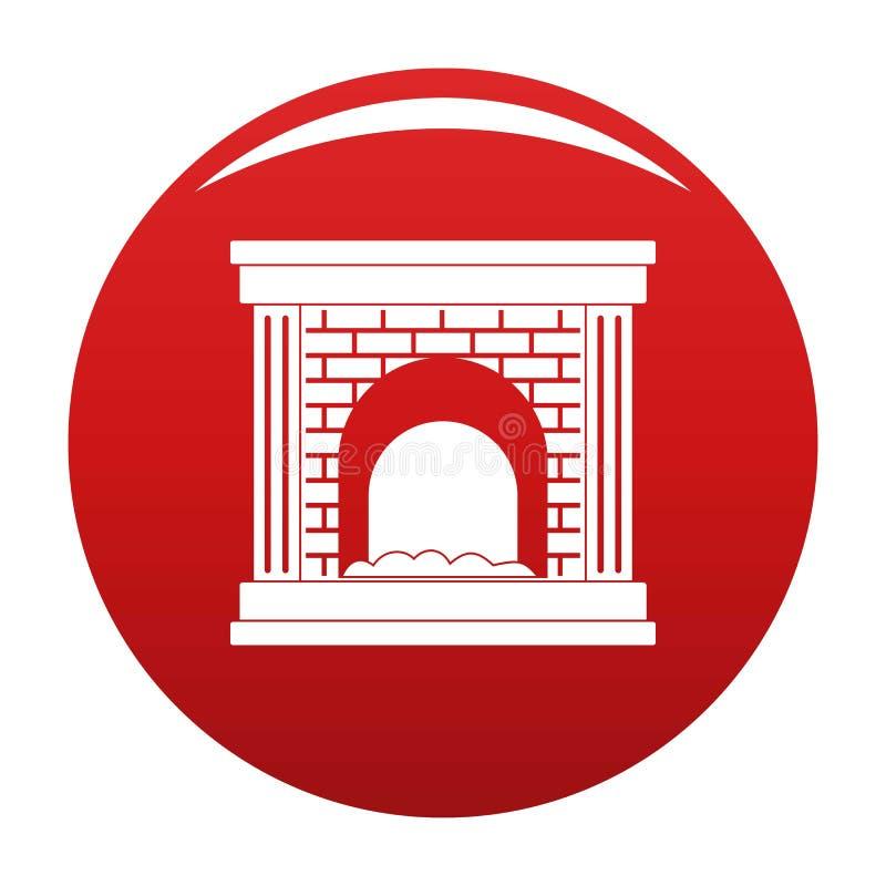 Cheminée pour le rouge de vecteur d'icône du feu illustration libre de droits