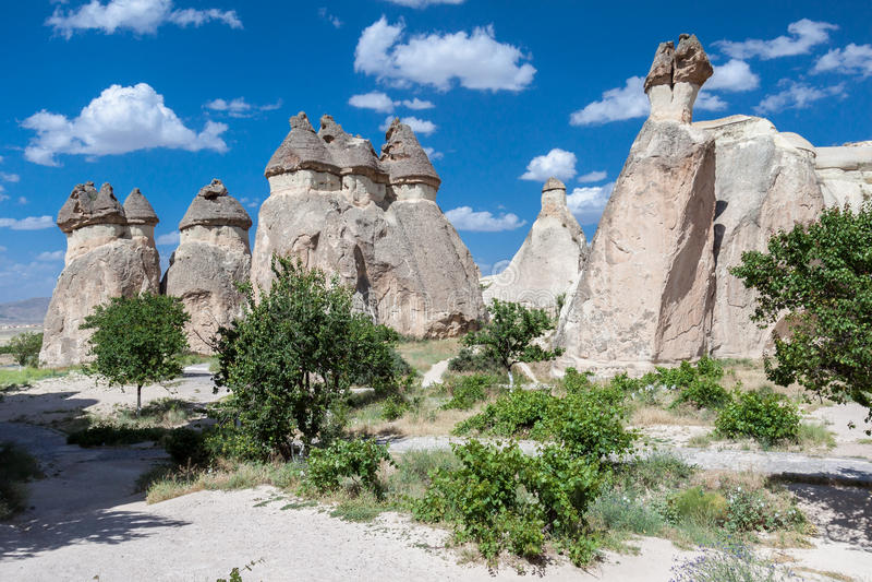 Cheminées féeriques Cappadocia photo stock