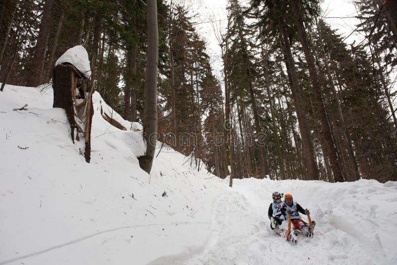 Chemin à cornes 2012 d'étrier dans Turecka, Slovaquie photos libres de droits
